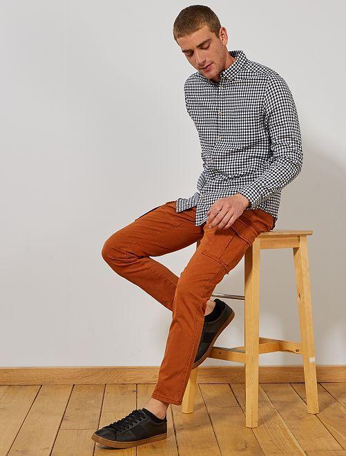 Camisa de franela ligera                                                                 AZUL Hombre