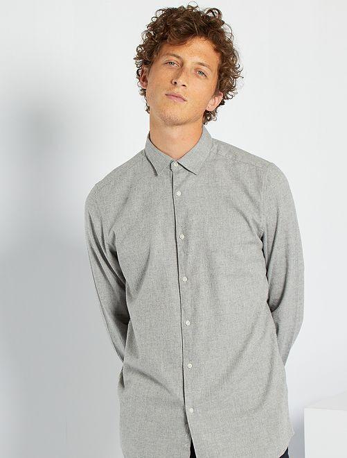 Camisa de franela ligera                                         gris