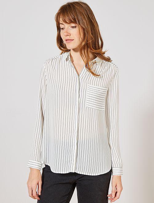 Camisa de gasa de crepé                                                                             GRIS Mujer talla 34 a 48