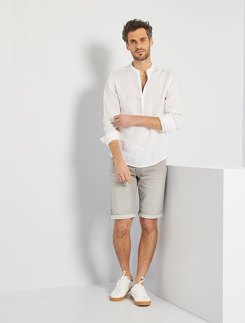 Camisa de lino eco-concepción                                         blanco