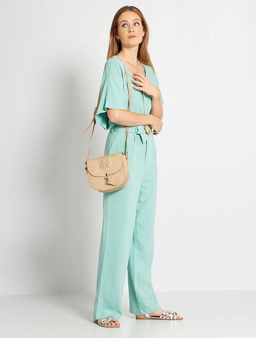 Camisa de lino eco-concepción                                         VERDE