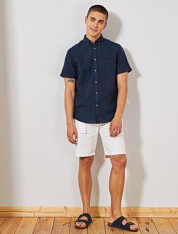 1bf866c4e0 Hombre talla S-XXL - Camisa de lino y algodón - Kiabi