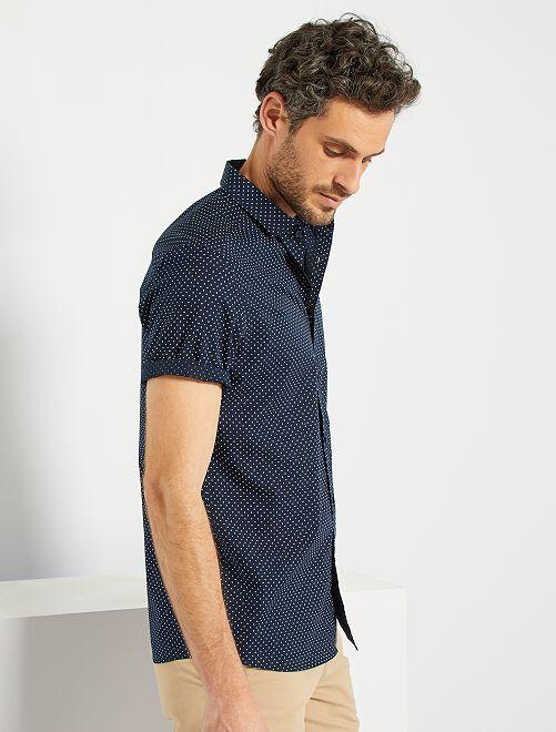 Camisa de lunares                                                                                                                                                                                                                 AZUL