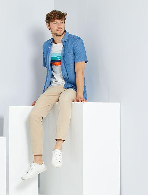 Camisa de lyocell                                         AZUL