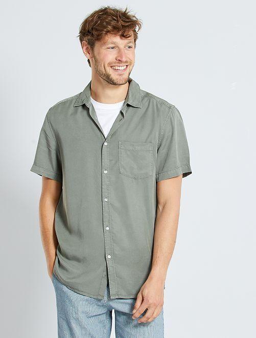 Camisa de lyocell                                         KAKI