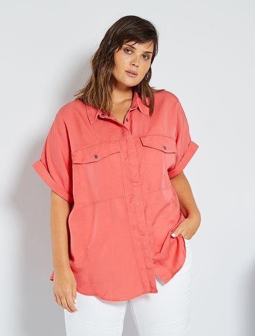 Camisa de lyocell                                         rosa naranja