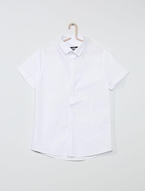 Camisa de manga corta                             blanco