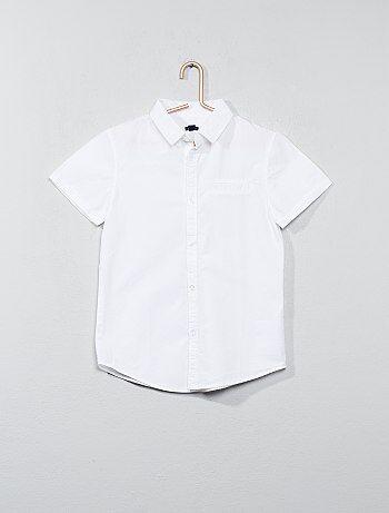 Camisa de manga corta de popelina de algodón - Kiabi