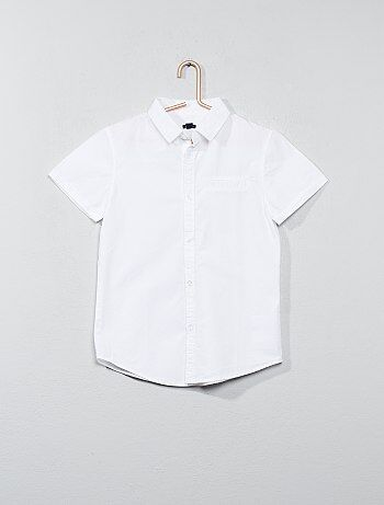 d253ae66d Camisa de manga corta de popelina de algodón - Kiabi