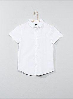Camisas - Camisa de manga corta de popelina de algodón - Kiabi