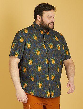 Tallas grandes hombre - Camisa de manga corta estampada - Kiabi