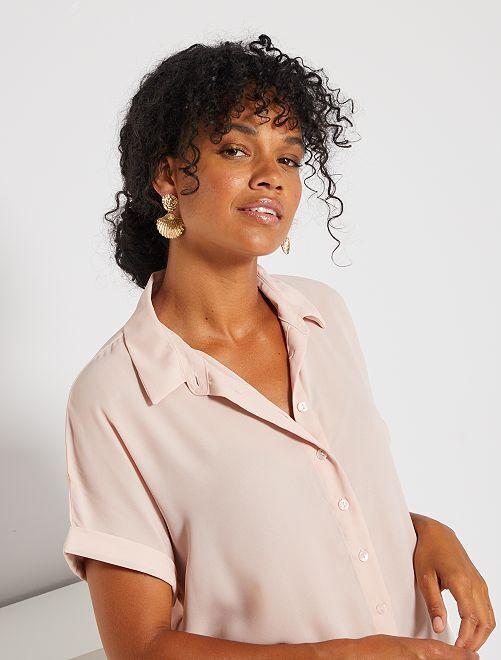 Camisa de manga corta                                                                                         ROSA