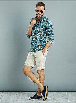 Hombre Camisa de manga larga estampado 'selva'