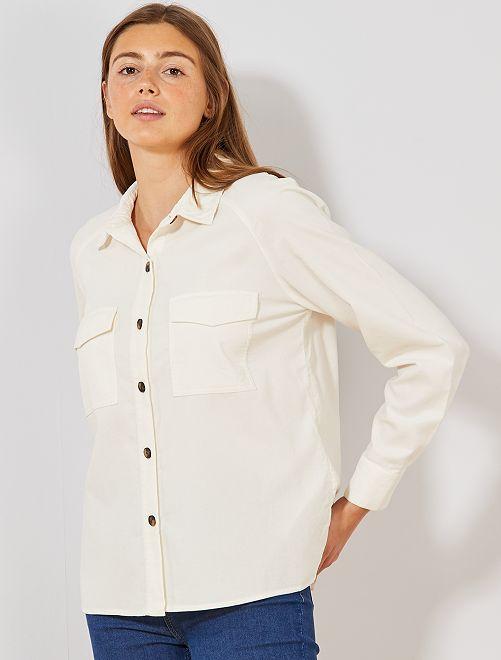 Camisa de pana                             BLANCO