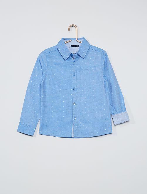 Camisa de plumeti                                         AZUL