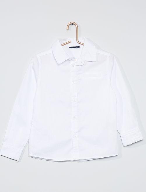 Camisa de plumeti                                         BLANCO