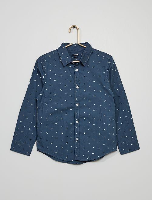 Camisa de popelina                                                                             AZUL