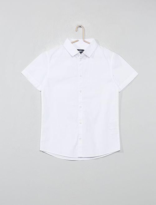Camisa de popelina                             blanco