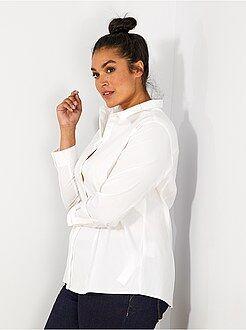 Camisas - Camisa de popelina elástica