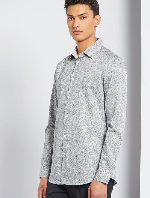 Camisa de popelina                                         GRIS