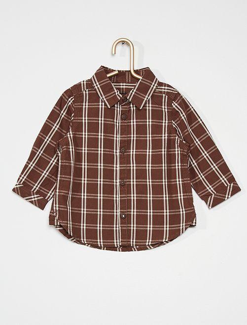 Camisa de popelina                                         MARRON