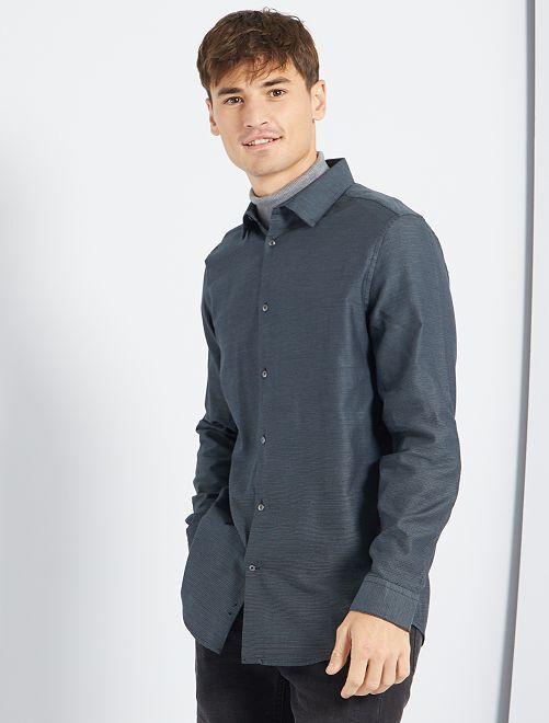 Camisa de popelina                                         NEGRO