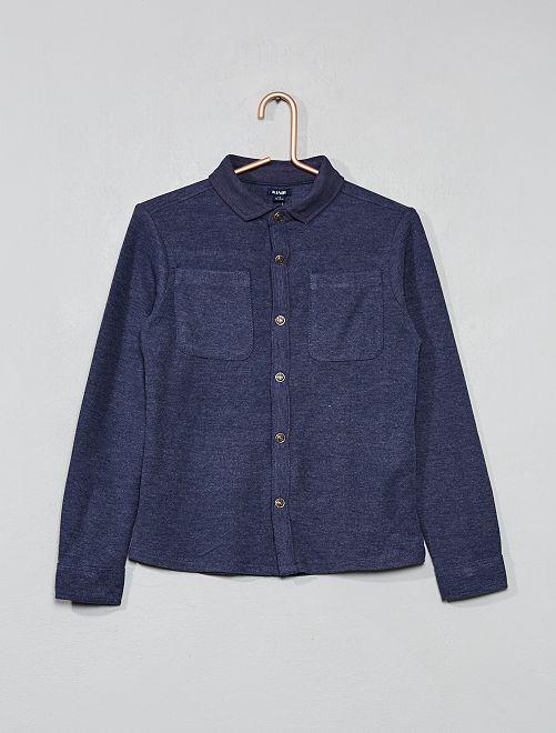 Camisa de punto de piqué                                         azul oscuro Chico