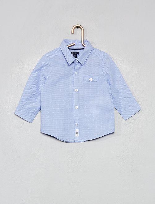 Camisa de rayas                             azul