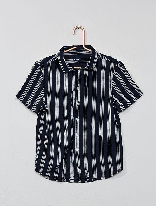 Camisa de rayas                             AZUL Chico