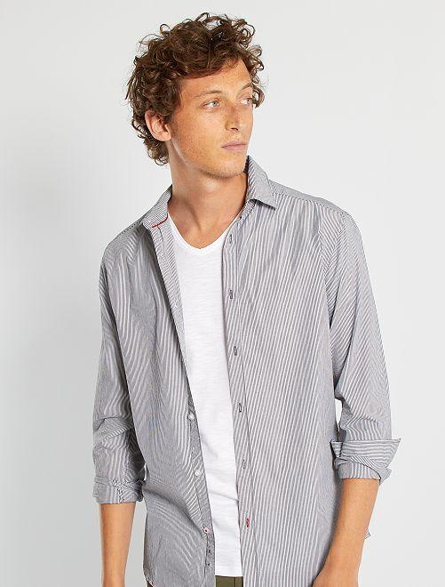 Camisa de rayas eco-concepción                                         negro
