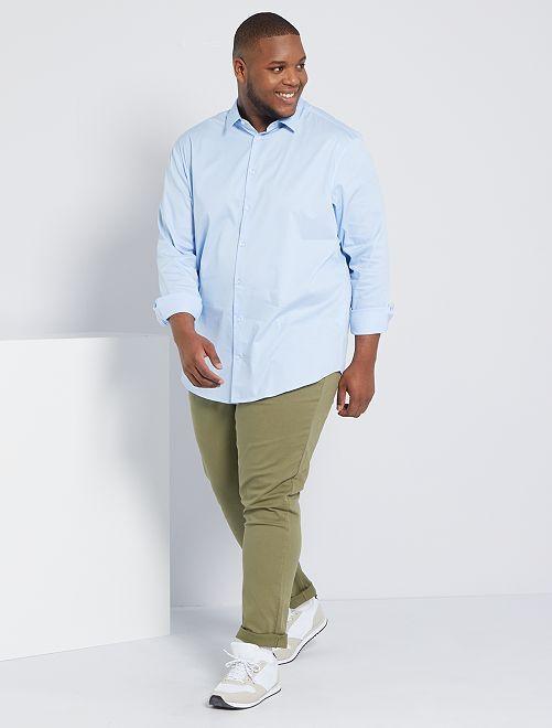 Camisa de sarga elástica                                                                 AZUL