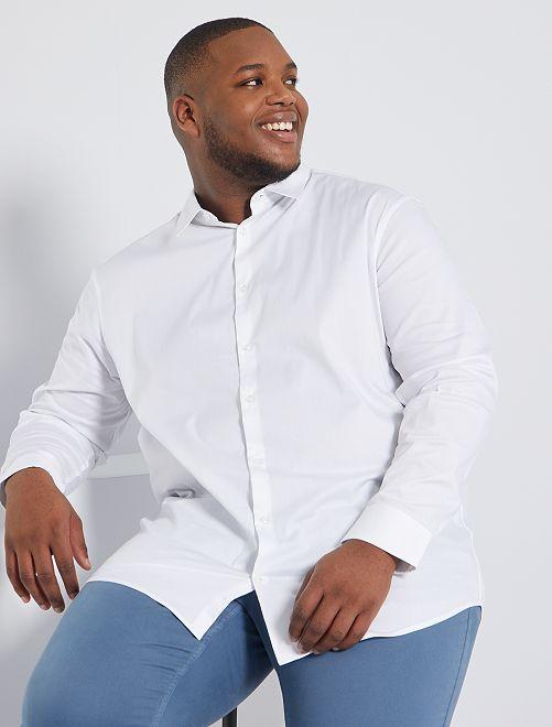 Camisa de sarga elástica                                                                 blanco
