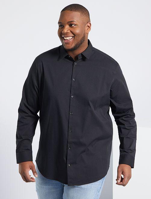 Camisa de sarga elástica                                                     negro