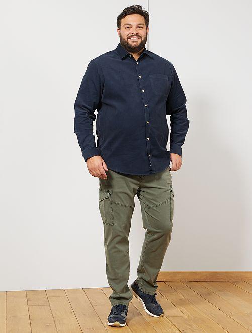 Camisa de terciopelo                                                     AZUL