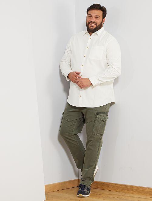 Camisa de terciopelo                                                     blanco nieve