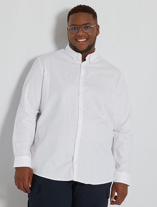 Camisa de vestir de efecto satinado                                         blanco