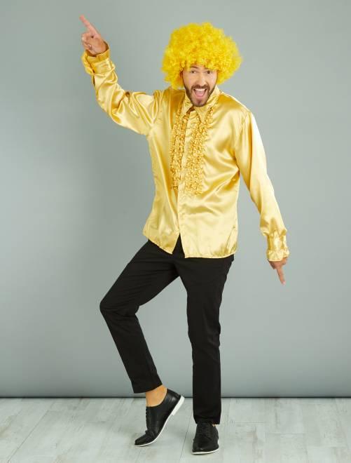 Camisa disco satinada                                                                 dorado