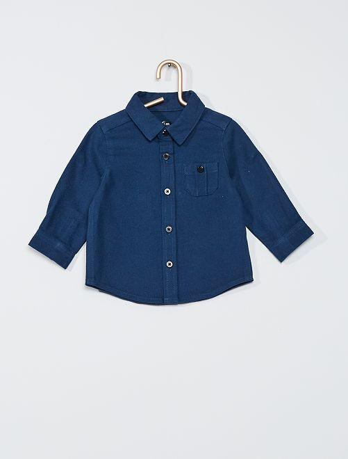 Camisa 'eco-concepción'                                         azul