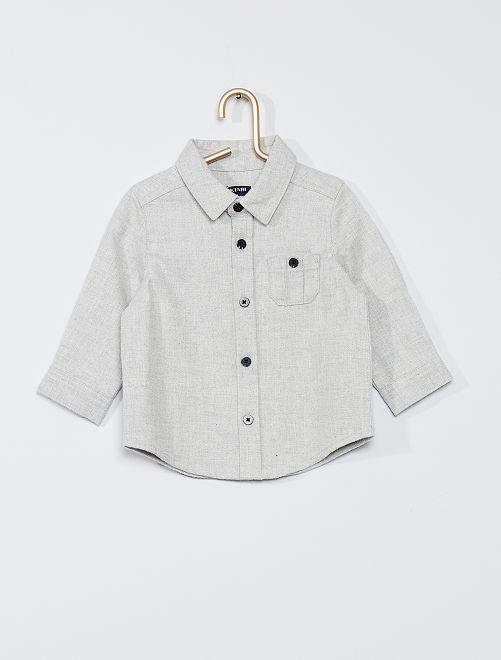Camisa 'eco-concepción'                                         gris