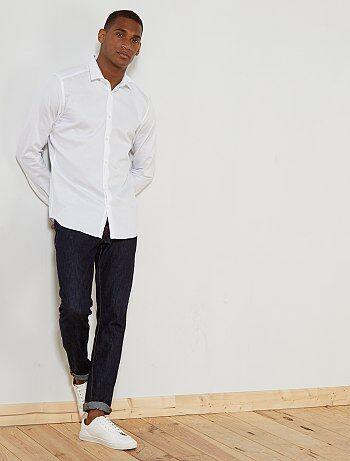 Hombre talla S-XXL - Camisa entallada de algodón con textura - Kiabi