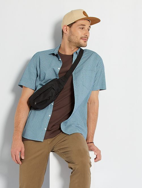Camisa estampada +1,90 m                                                                                                                 AZUL