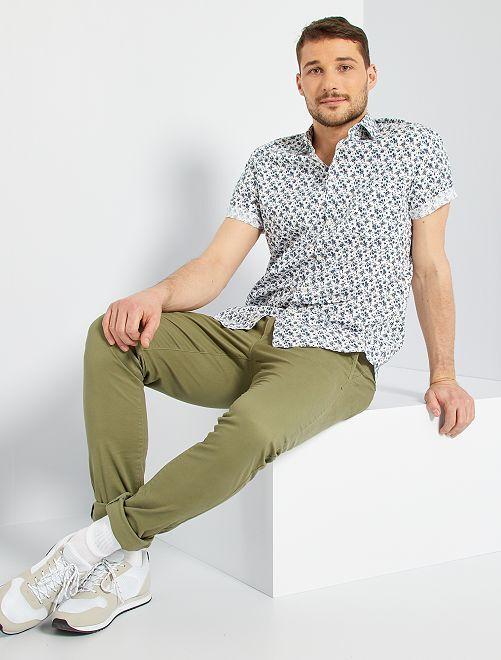 Camisa estampada +1,90 m                                                                                                                                         BLANCO