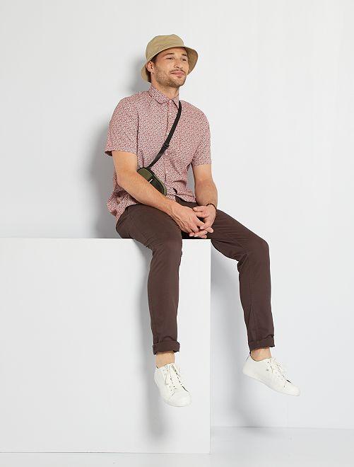 Camisa estampada +1,90 m                                                                                                                 NARANJA