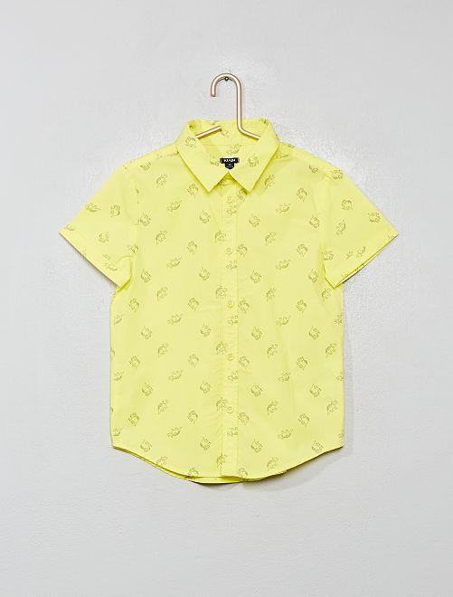 Camisa estampada                                                                                         AMARILLO