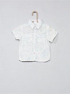 Niño 0-36 meses - Camisa estampada con bolsillos en el pecho - Kiabi
