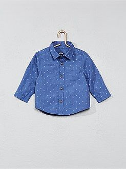 Camisas - Camisa estampada de popelina - Kiabi