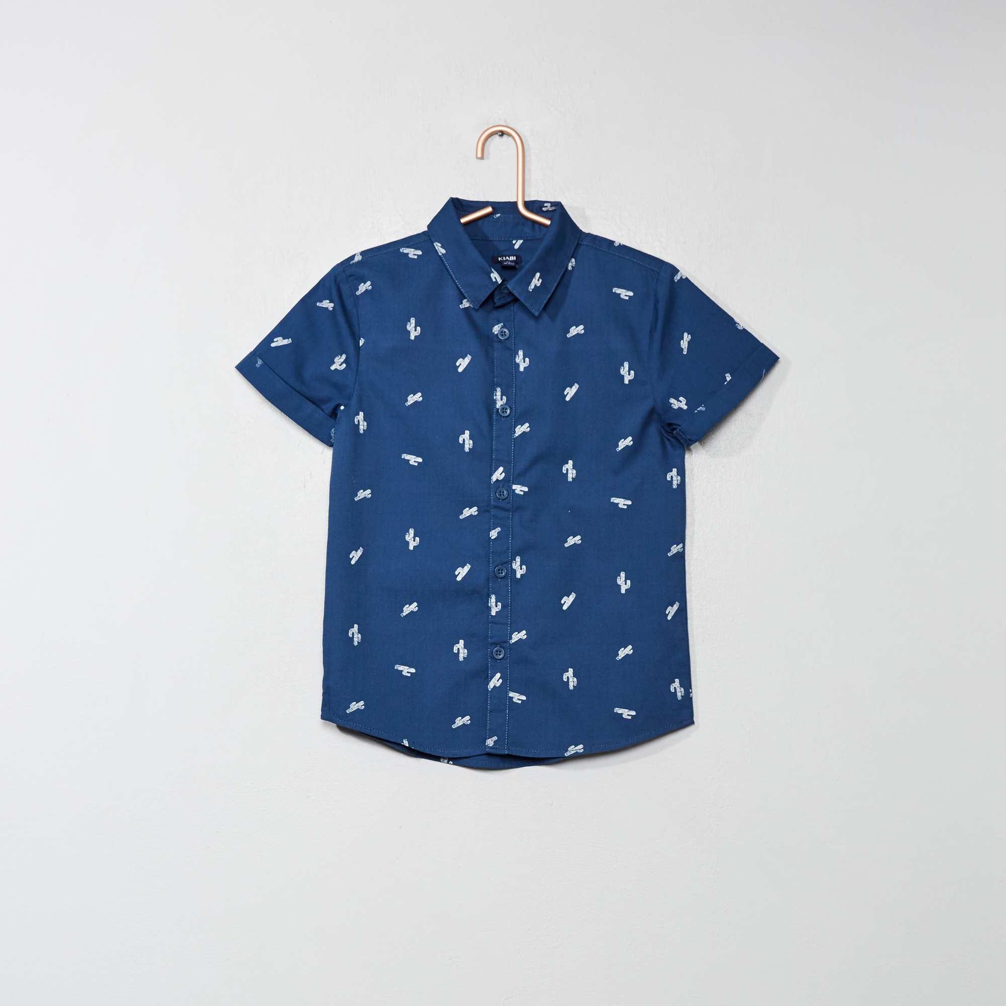 c38cdd9b5 Camisa estampada de popelina Chico - AZUL - Kiabi - 7