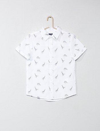 9bc0f5633 Niño 3-12 años - Camisa estampada de popelina - Kiabi