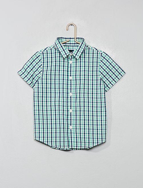 Camisa estampada                                                                                                     verde cuadros