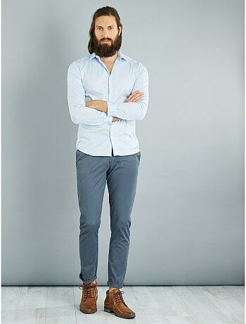 Hombre talla S-XXL - Camisa fitted elástica - Kiabi